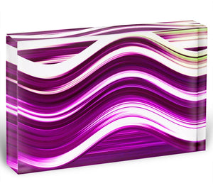 Pink Wave Acrylic Block - Canvas Art Rocks - 1