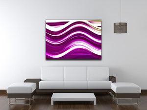 Pink Wave Canvas Print or Poster - Canvas Art Rocks - 4