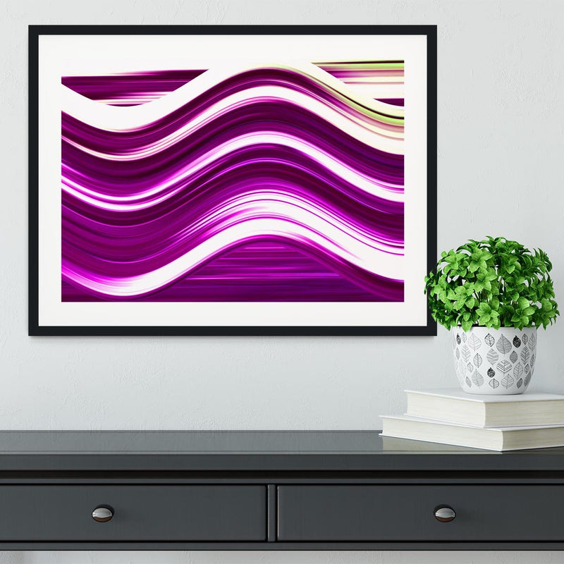 Pink Wave Framed Print - Canvas Art Rocks - 1