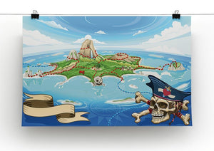 Pirate Cove Island Treasure Map Canvas Print or Poster - Canvas Art Rocks - 2