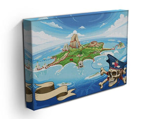 Pirate Cove Island Treasure Map Canvas Print or Poster - Canvas Art Rocks - 3