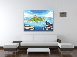 Pirate Cove Island Treasure Map Canvas Print or Poster - Canvas Art Rocks - 4