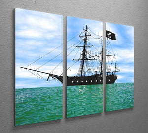 Pirate ship at anchor 3 Split Panel Canvas Print - Canvas Art Rocks - 2