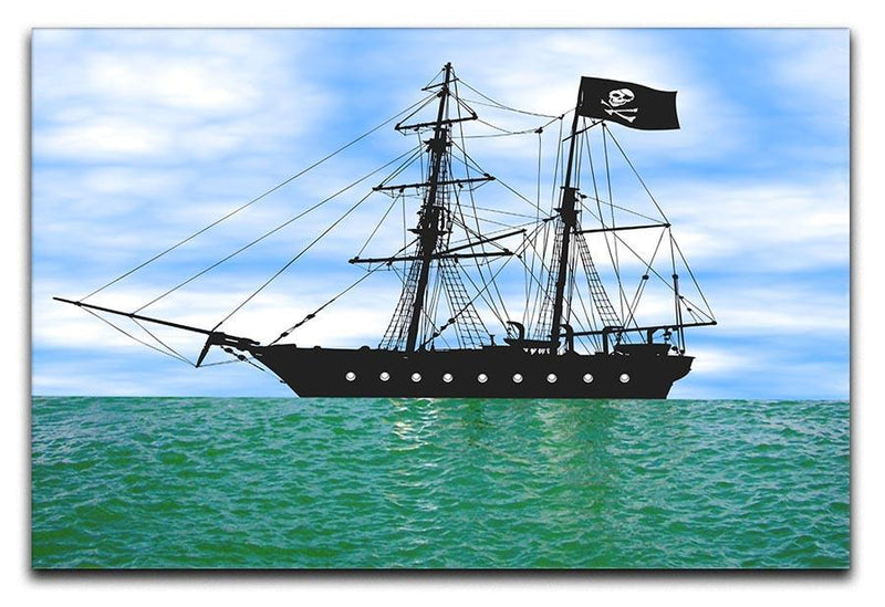 Pirate ship at anchor Canvas Print or Poster  - Canvas Art Rocks - 1