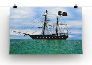 Pirate ship at anchor Canvas Print or Poster - Canvas Art Rocks - 2