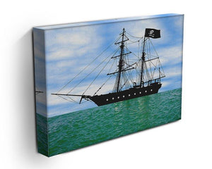 Pirate ship at anchor Canvas Print or Poster - Canvas Art Rocks - 3