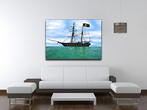 Pirate ship at anchor Canvas Print or Poster - Canvas Art Rocks - 4