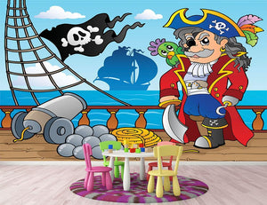 Pirate ship deck theme 3 Wall Mural Wallpaper