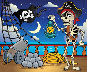 Pirate ship deck theme 6 Wall Mural Wallpaper - Canvas Art Rocks - 1
