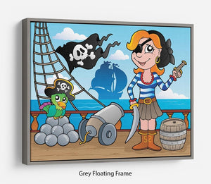 Pirate ship deck theme 8 Floating Frame Canvas