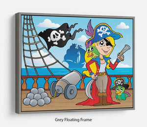 Pirate ship deck theme 9 Floating Frame Canvas