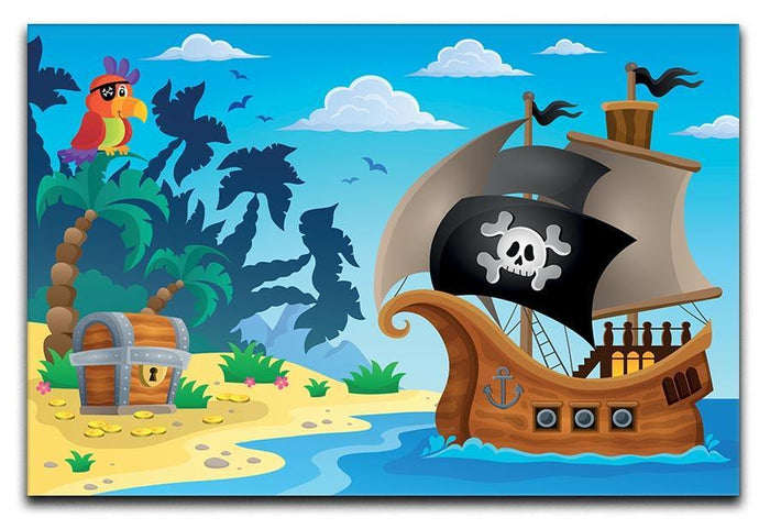 Pirate ship topic image 5 Canvas Print or Poster