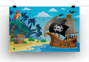 Pirate ship topic image 5 Canvas Print or Poster - Canvas Art Rocks - 2