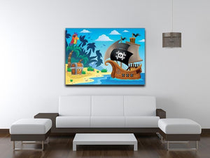Pirate ship topic image 5 Canvas Print or Poster - Canvas Art Rocks - 4