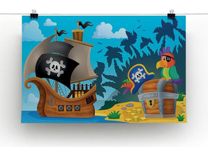 Pirate ship topic image 6 Canvas Print or Poster - Canvas Art Rocks - 2