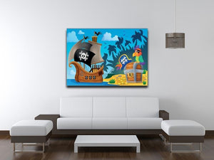 Pirate ship topic image 6 Canvas Print or Poster - Canvas Art Rocks - 4