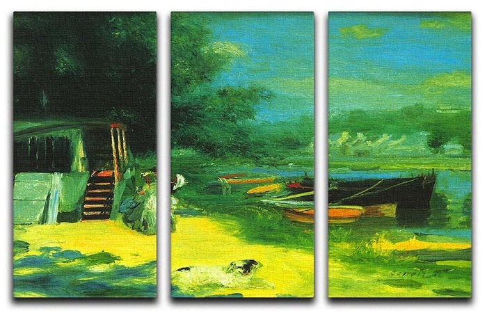 Place for Bading by Renoir 3 Split Panel Canvas Print