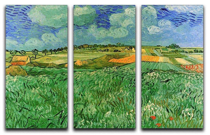 Plain Near Auvers by Van Gogh 3 Split Panel Canvas Print