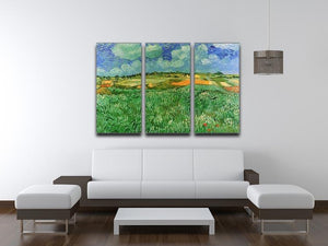 Plain Near Auvers by Van Gogh 3 Split Panel Canvas Print - Canvas Art Rocks - 4