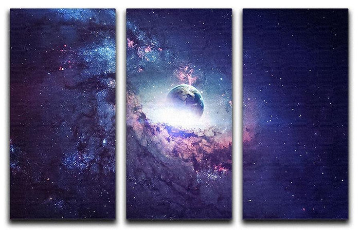 Planets Stars and Galaxies 3 Split Panel Canvas Print