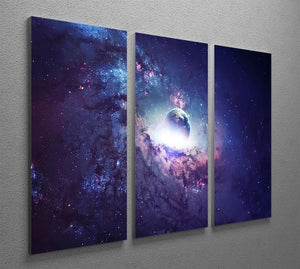 Planets Stars and Galaxies 3 Split Panel Canvas Print - Canvas Art Rocks - 2