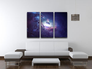 Planets Stars and Galaxies 3 Split Panel Canvas Print - Canvas Art Rocks - 3
