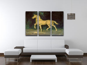 Plaster Statuette of a Horse by Van Gogh 3 Split Panel Canvas Print - Canvas Art Rocks - 4