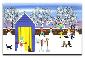 Playing in the snow by Gordon Barker Canvas Print or Poster - Canvas Art Rocks - 1