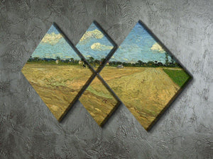 Ploughed fields by Van Gogh 4 Square Multi Panel Canvas - Canvas Art Rocks - 2