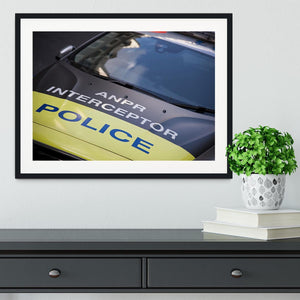Police car Framed Print - Canvas Art Rocks - 1