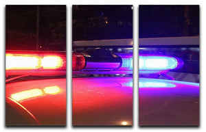 Police lights 3 Split Panel Canvas Print - Canvas Art Rocks - 1