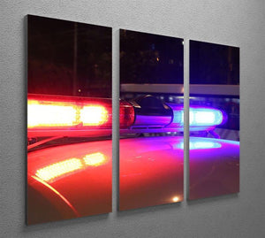 Police lights 3 Split Panel Canvas Print - Canvas Art Rocks - 2
