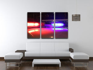 Police lights 3 Split Panel Canvas Print - Canvas Art Rocks - 3