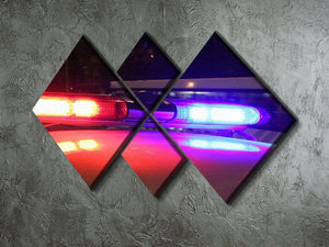 Police lights 4 Square Multi Panel Canvas  - Canvas Art Rocks - 2