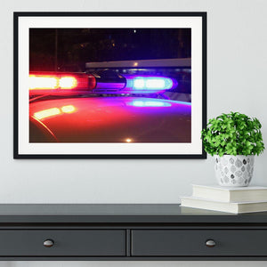Police lights Framed Print - Canvas Art Rocks - 1