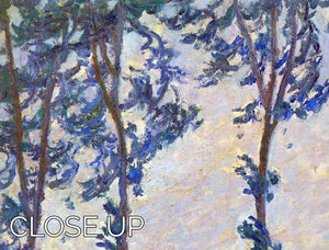Poplar series wind by Monet 3 Split Panel Canvas Print - Canvas Art Rocks - 3