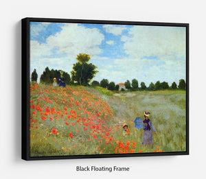 Poppies by Monet Floating Frame Canvas
