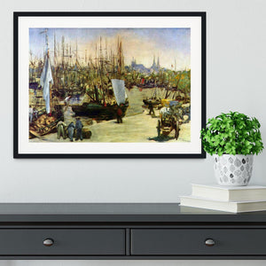 Port of Bordeaux by Manet Framed Print - Canvas Art Rocks - 1