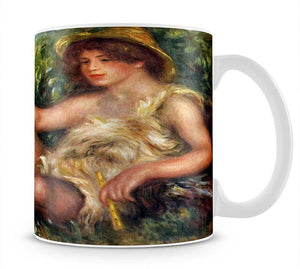 Portrait of Alexandre Thurneyssen as a shepherd boy by Renoir Mug - Canvas Art Rocks - 1
