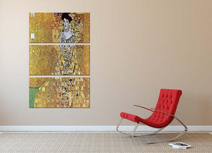 Portrait of Block Bauer 2 by Klimt 3 Split Panel Canvas Print - Canvas Art Rocks - 2