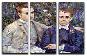 Portrait of Charles and George by Renoir 3 Split Panel Canvas Print - Canvas Art Rocks - 1