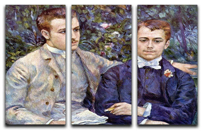 Portrait of Charles and George by Renoir 3 Split Panel Canvas Print
