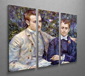 Portrait of Charles and George by Renoir 3 Split Panel Canvas Print - Canvas Art Rocks - 2
