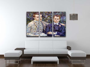 Portrait of Charles and George by Renoir 3 Split Panel Canvas Print - Canvas Art Rocks - 3