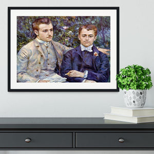 Portrait of Charles and George by Renoir Framed Print - Canvas Art Rocks - 1