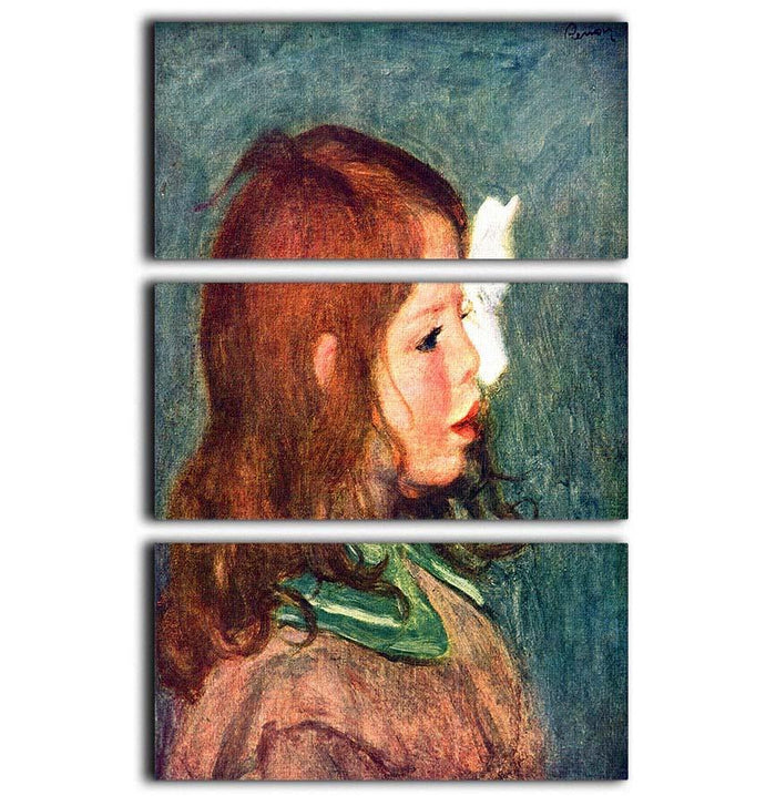 Portrait of Coco by Renoir 3 Split Panel Canvas Print