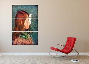 Portrait of Coco by Renoir 3 Split Panel Canvas Print - Canvas Art Rocks - 2