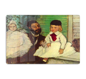 Portrait of Count Lepic and his daughters by Degas HD Metal Print - Canvas Art Rocks - 1
