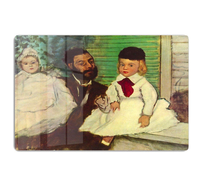 Portrait of Count Lepic and his daughters by Degas HD Metal Print