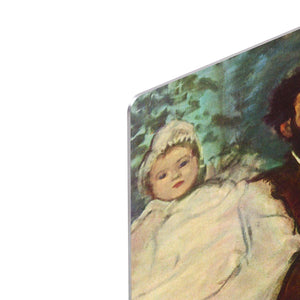 Portrait of Count Lepic and his daughters by Degas HD Metal Print - Canvas Art Rocks - 4